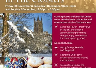 Christmas Fayre in the Cloister